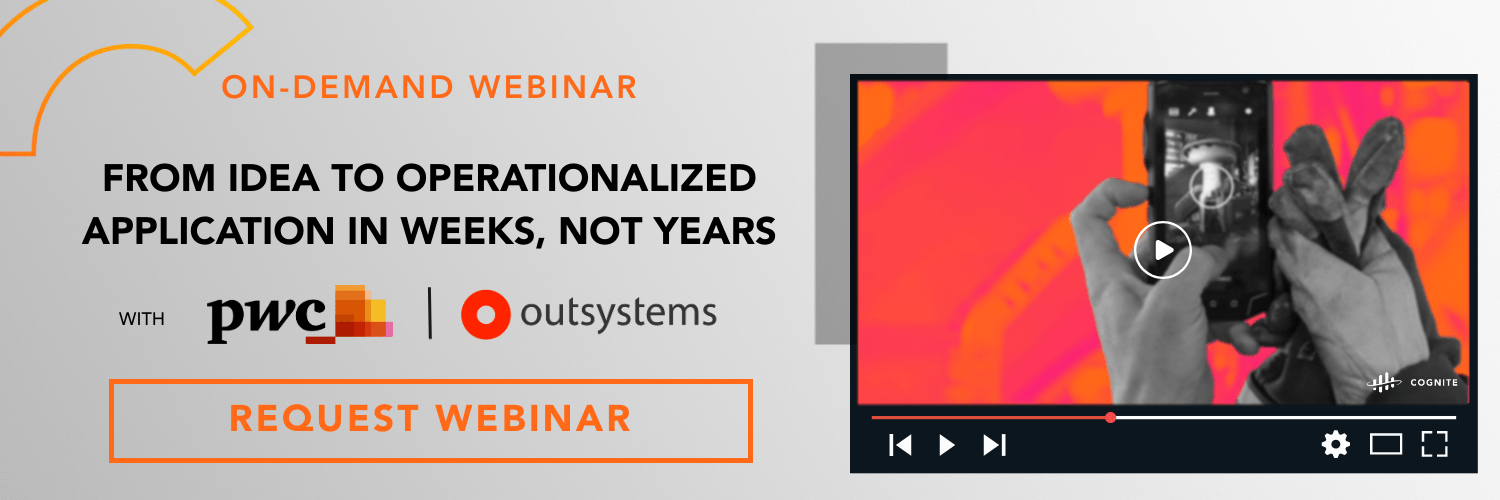 Banner  Webinar  From idea to operationalized application in weeks, not years