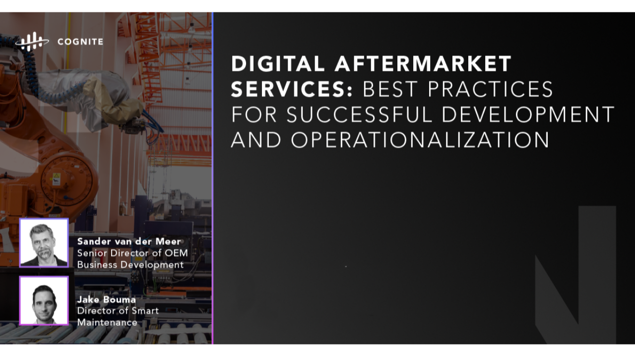 Digital Aftermarket Services: Best Practices for Successful Development and Operationalization