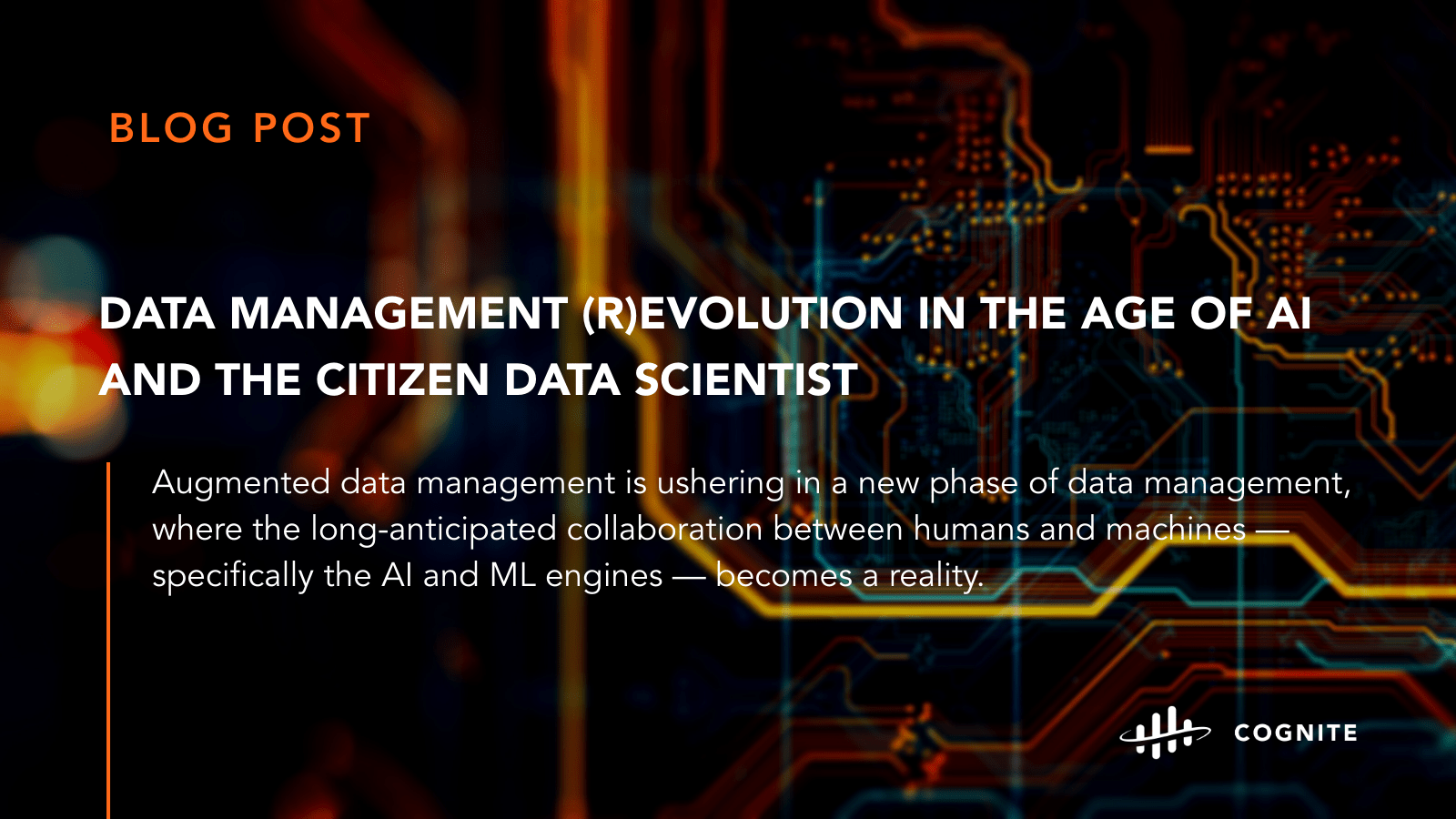 Data management (r)evolution in the age of AI and the citizen data scientist