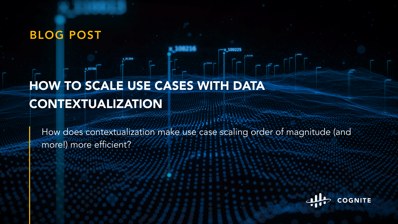 How to scale use cases with data contextualization