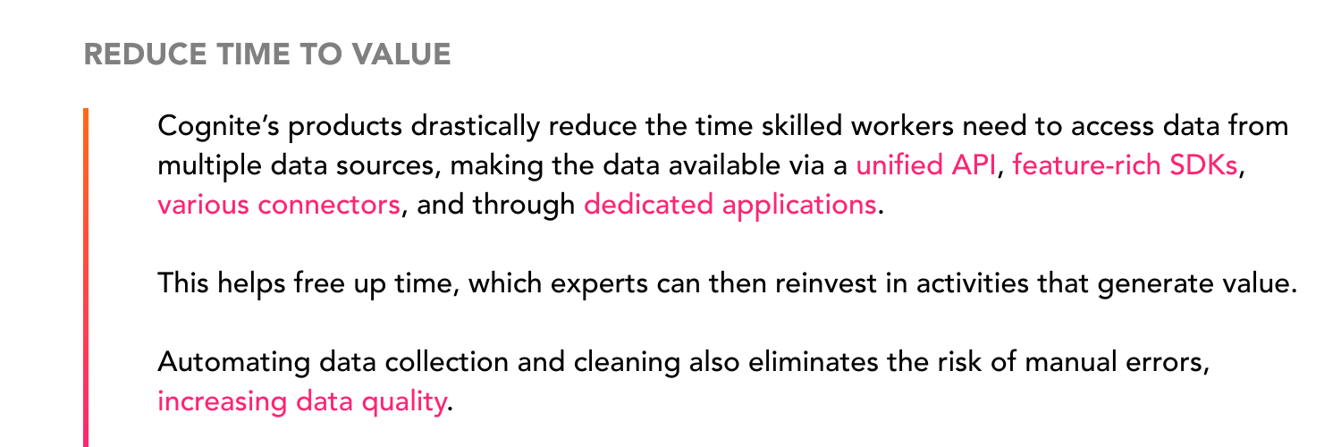 reduce time to value