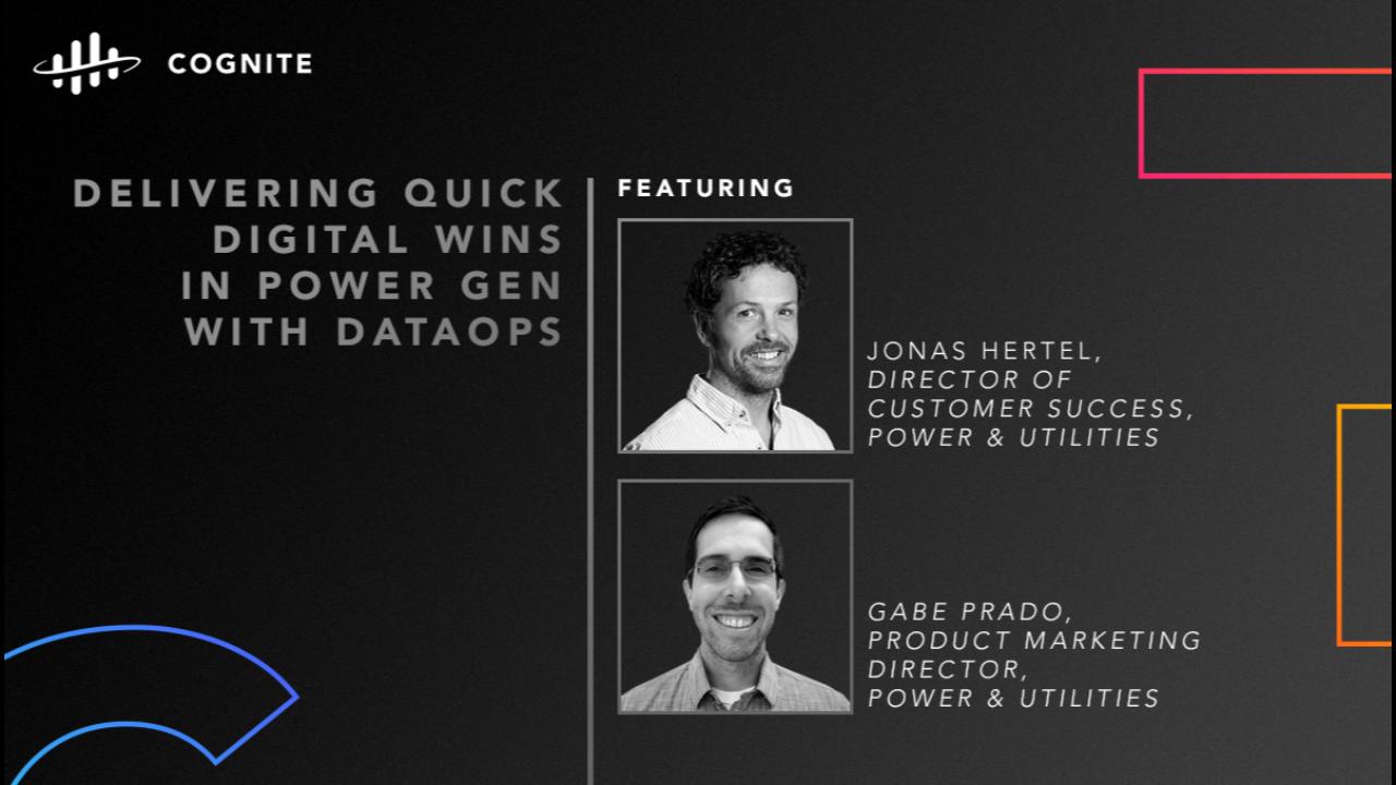 Delivering Quick Digital Wins in Power Gen with DataOps
