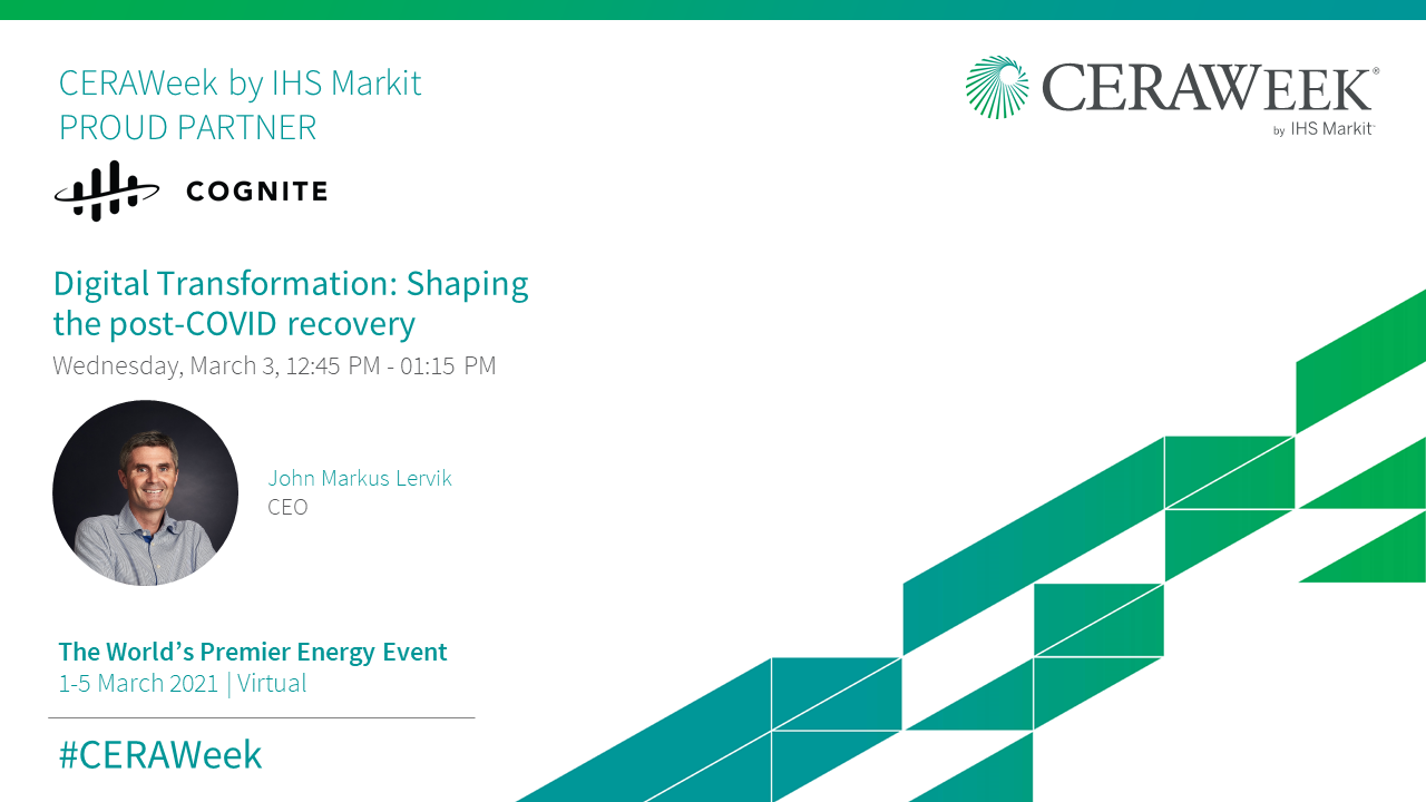 CERAWeek: Digital Transformation - Shaping the post-COVID recovery
